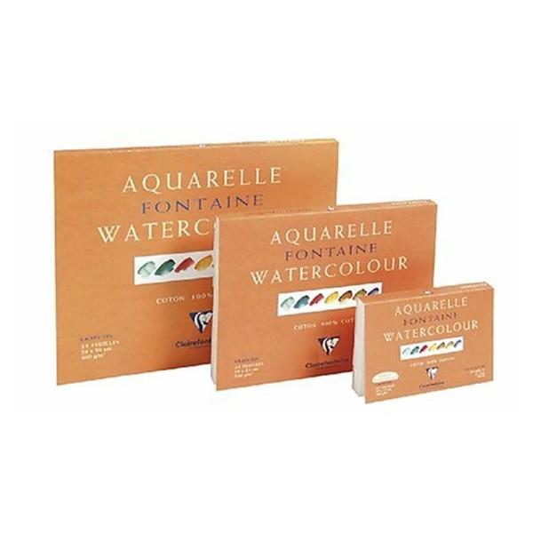 Clairefontaine 96413C Bloc de papier aquarelle Encollé sur 4 cotés 25 Feuilles Blanc - Photo n°2