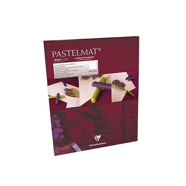 Pastelmat Bloc - Blanches 360g 30x40cm 12 feuilles - Photo n°1