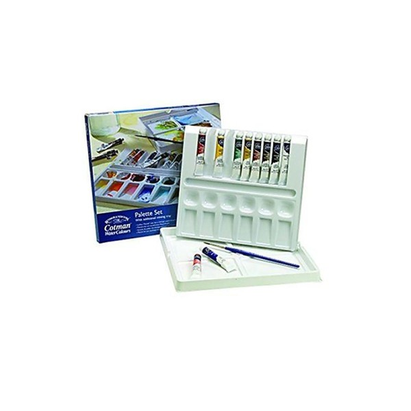 Winsor & Newton Cotman Water Colour Boîte de Peinture 10 tubes 8 ml Couleurs Assorties - Photo n°1
