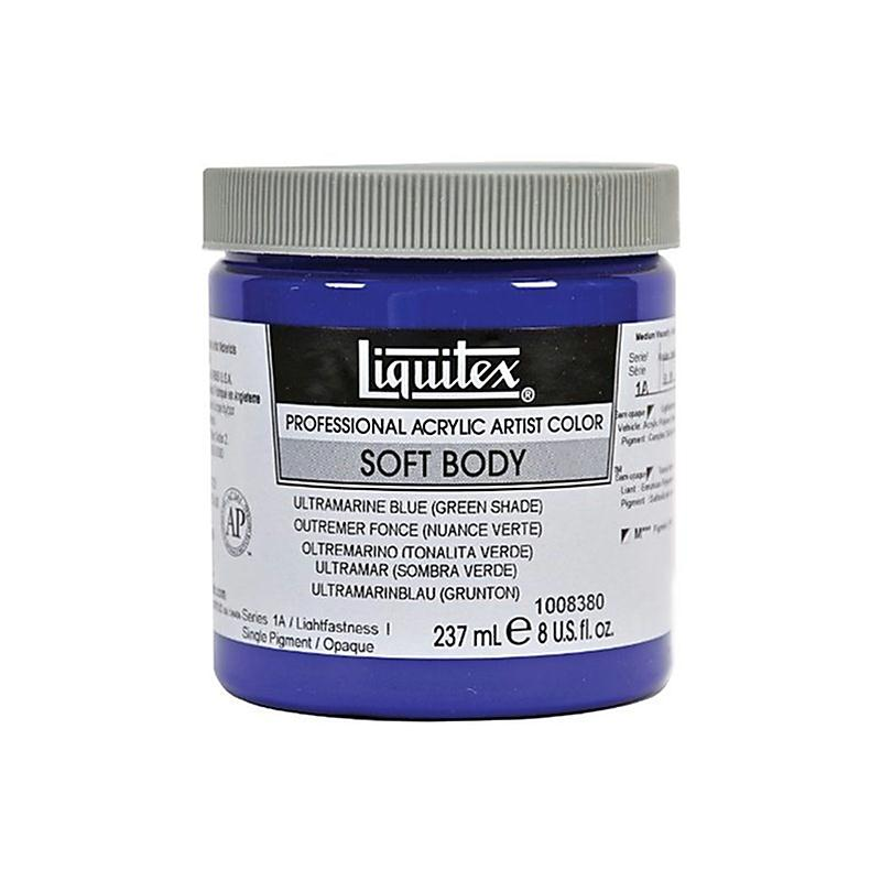 liquitex professional soft body pot de peinture acrylique fluide 237 ml bleu outremer nuance. Black Bedroom Furniture Sets. Home Design Ideas