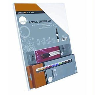 Daler Rowney - 126500005 - Kit De Loisirs Créatifs - Ensemble D'Initiation À L'Acrylique Simply