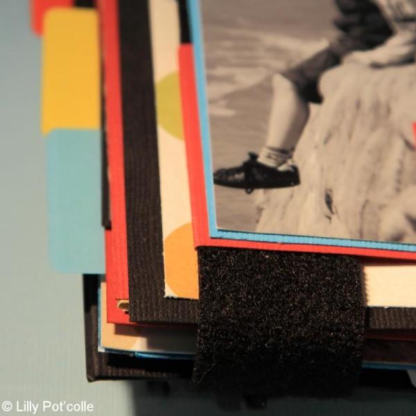 Bande velcro auto agrippante noire 3 cm x 1 m - Photo n°2