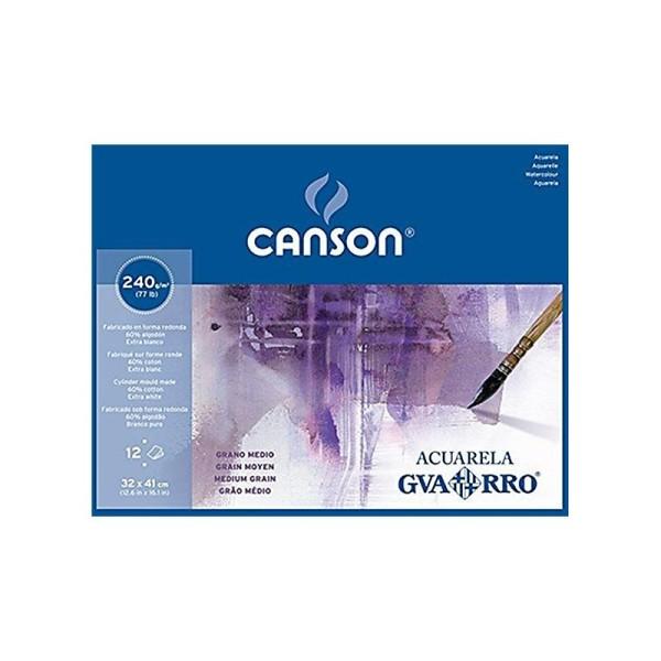 Canson Guarro Papier aquarelle 32 x 41 cm Blanc - Photo n°1