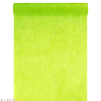 Chemin de table intissé uni 30 cm - Vert x 10 m