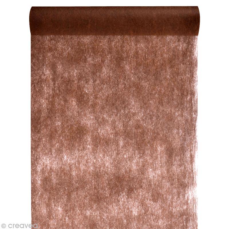chemin de table intiss uni 30 cm marron chocolat x 10 m chemin de table creavea. Black Bedroom Furniture Sets. Home Design Ideas