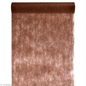 Chemin de table intissé uni 30 cm - Marron chocolat x 10 m