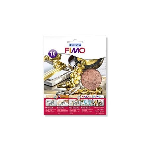 Staedtler Fimoâ Accessoires Pack de 10 Feuilles métalliques Cuivre 14 x 14 cm - Photo n°1