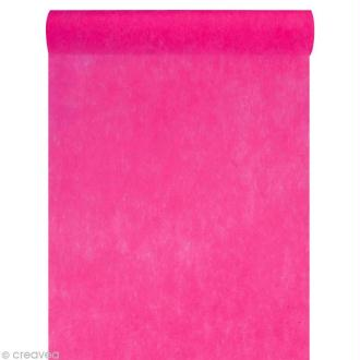 Chemin de table intissé uni 30 cm - Rose fuchsia x 10 m