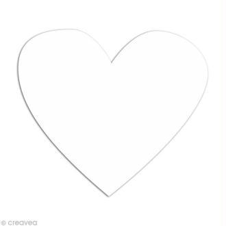 Confetti coeur 4 cm Blanc x 100