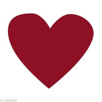 Confetti coeur 4 cm Rouge bordeaux x 100