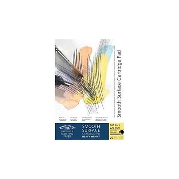 Winsor & Newton Bloc de feuilles de papier à dessin Surface lisse A2 - Photo n°1