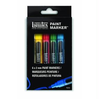 Liquitex 00122 Set de 6 Marqueurs Pointe Fine Couleurs Assortis