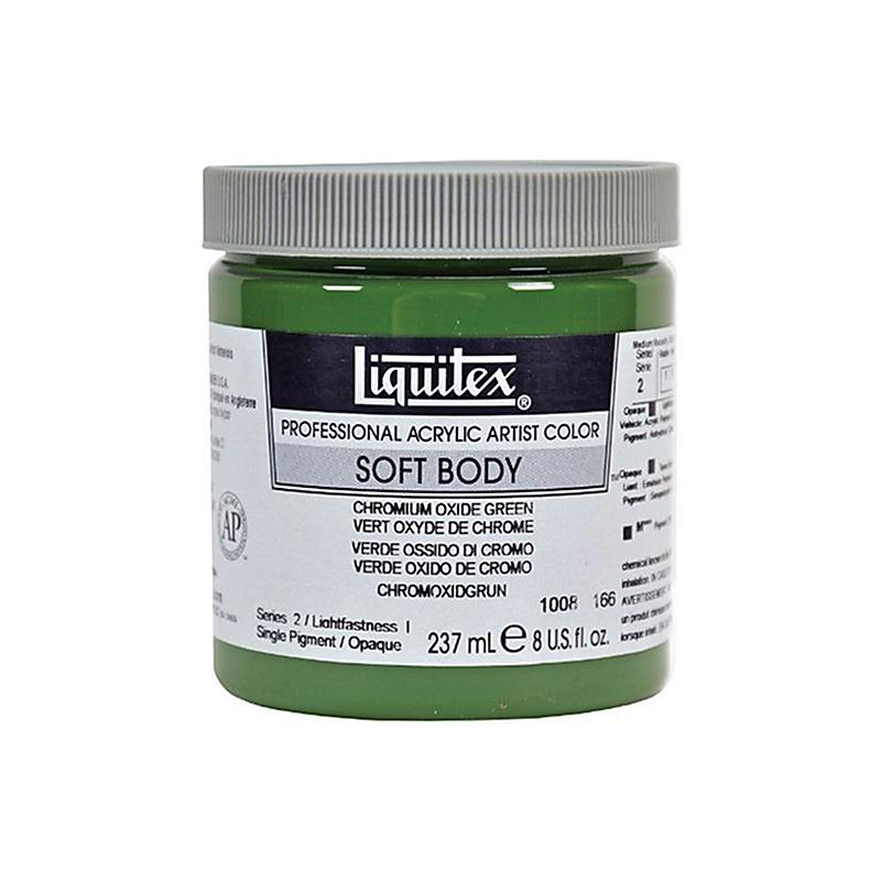 liquitex professional soft body pot de peinture acrylique fluide 237 ml vert oxyde de chrome. Black Bedroom Furniture Sets. Home Design Ideas