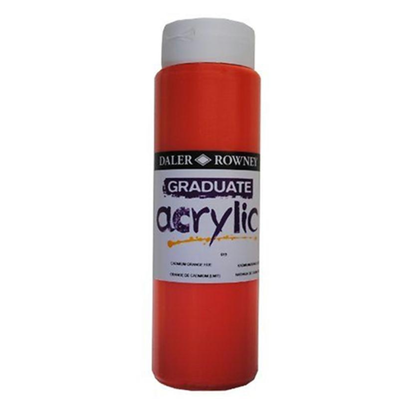 daler rowney graduate peinture acrylique orange cadmium 500 ml peinture acrylique creavea. Black Bedroom Furniture Sets. Home Design Ideas