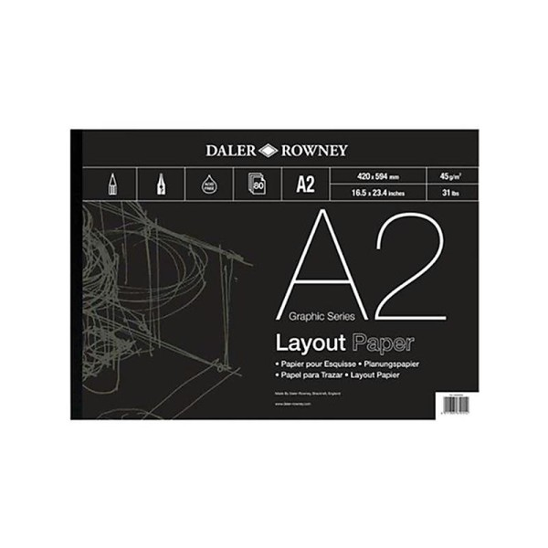 Daler-Rowney Bloc à spirale Série A Format A3 - Photo n°1