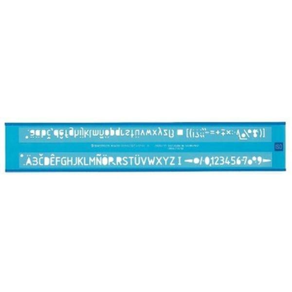 Staedtler 572 07 S Trace-lettres Mars, hauteur des lettres 0,7mm (Bleu transparent) - Photo n°1