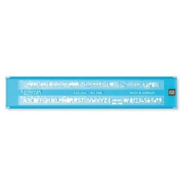 Staedtler Mars 572 05 S trace-lettres Transparent 0,5 mm Bleu - Photo n°1