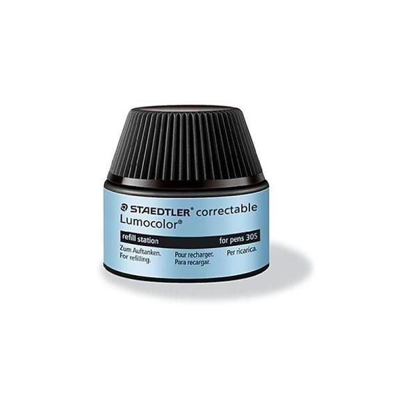 Staedtler 487 05-9 Flacon-recharge Lumocolor pour stylos 305, pour 15 à 20 recharges (Noir) - Photo n°1