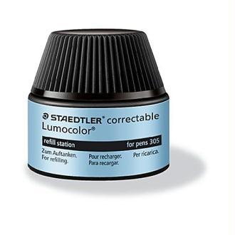 Staedtler 487 05-9 Flacon-recharge Lumocolor pour stylos 305, pour 15 à 20 recharges (Noir)