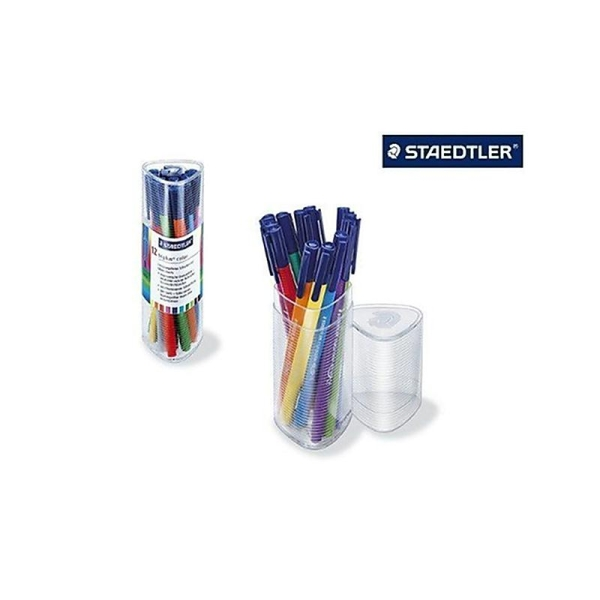 Staedtler - triplus color - Gobelet de 12 feutres de coloriage - Couleurs assorties - Pointe 1,0 mm - Photo n°1