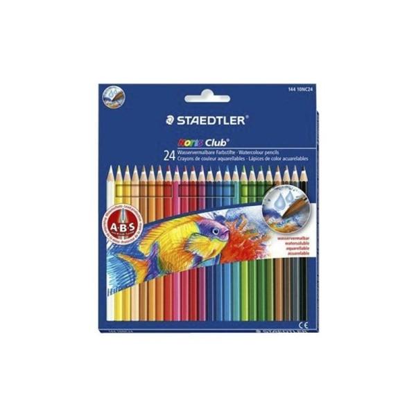 Staedtler - Noris Club - Pack de 24 Crayons de couleur aquarellable - Assortis - Photo n°1