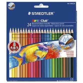 Staedtler - Noris Club - Pack de 24 Crayons de couleur aquarellable - Assortis