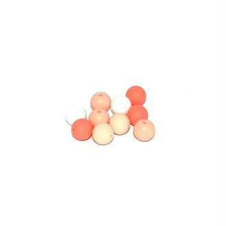 Perle silicone camaïeu orange 12 mm x10