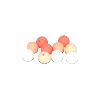 Perle silicone camaïeu orange 15 mm x10