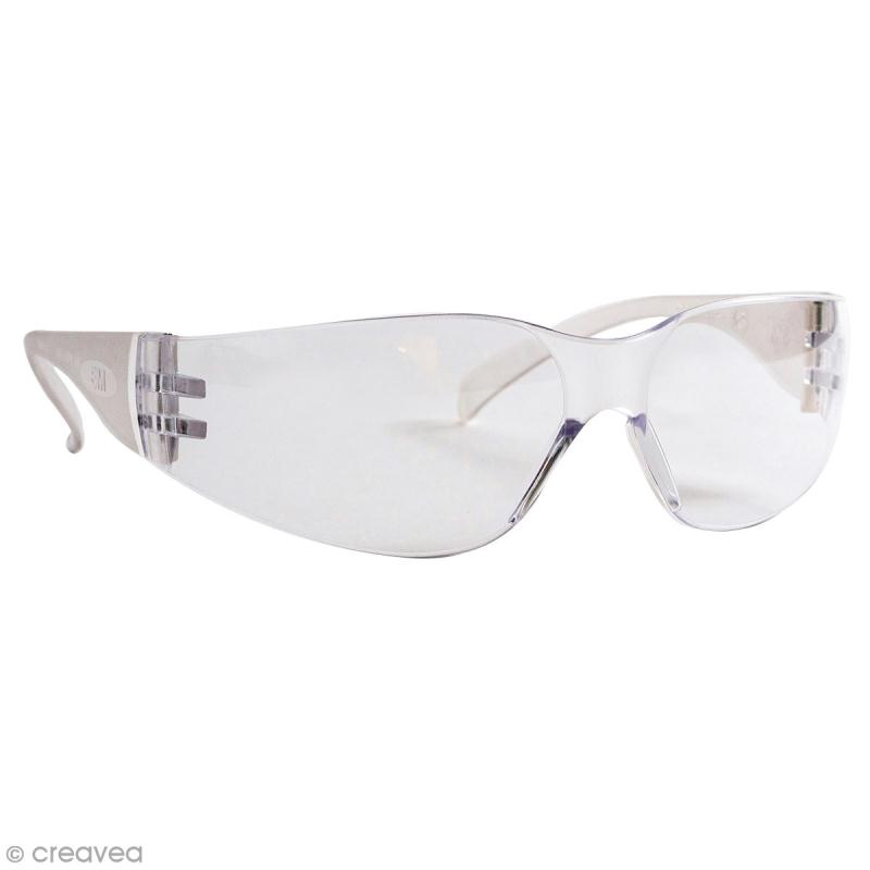 Lunettes de protection transparentes - Norme EN166 - Photo n°1