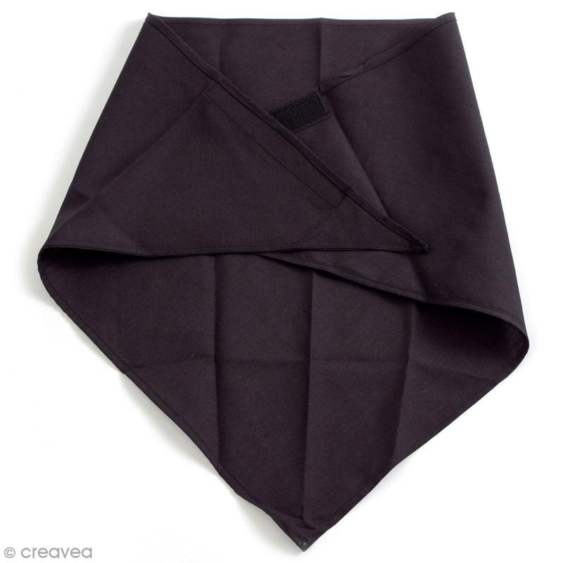 Foulard masque de protection - Noir - 74 x 36 cm - Photo n°1