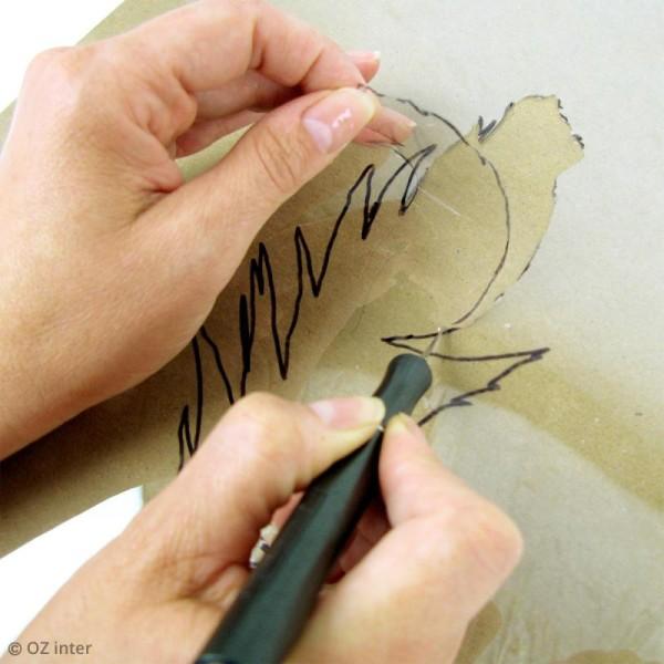 Film transparent indéchirable pour pochoir - Rouleau de 50 cm x 6,5 m - Photo n°2