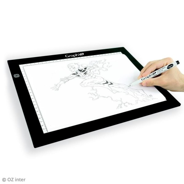 Table lumineuse ultra plate - GRAPH'IT Light board - 30 x 43 cm - Photo n°2