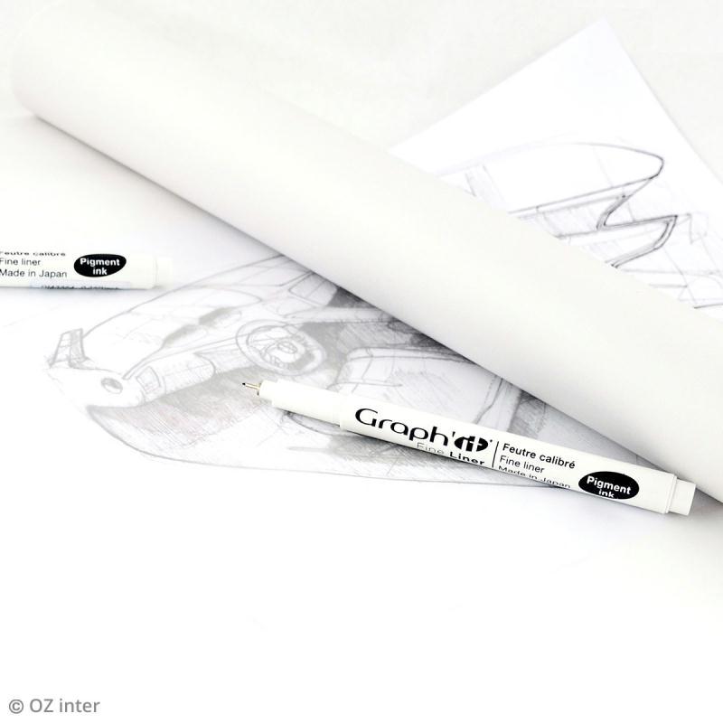 Rouleau de papier calque - 37,5 cm x 20 m - Photo n°2