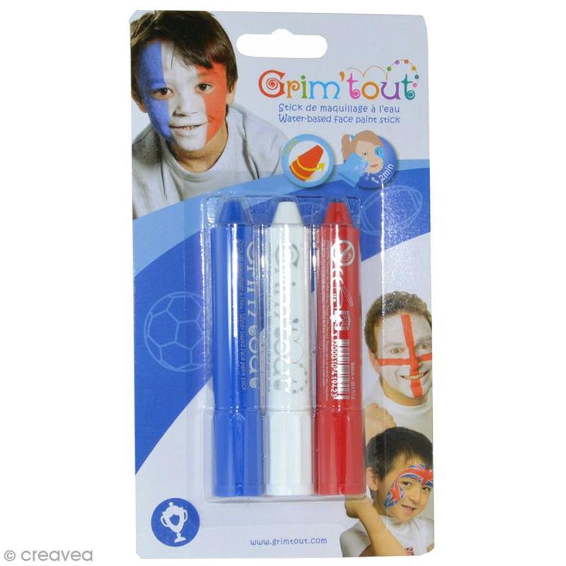 Maquillage Grim'tout - 3 sticks Grimstick Supporter - Sans paraben - Photo n°1