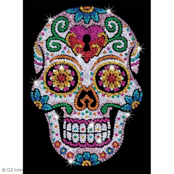 Sequin Art - Sugar skull - tableau 25 x 34 cm - Photo n°2