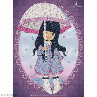 Sequin Art - Gorjuss - Fillette au parapluie - tableau 25 x 34 cm