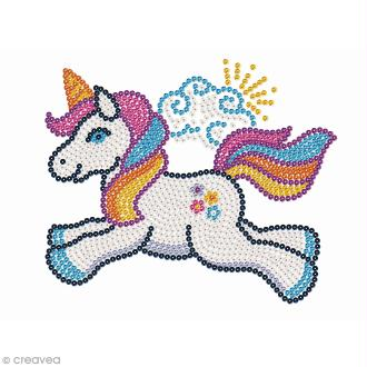 Sequin Art Junior - Licorne - tableau 34 x 25 cm