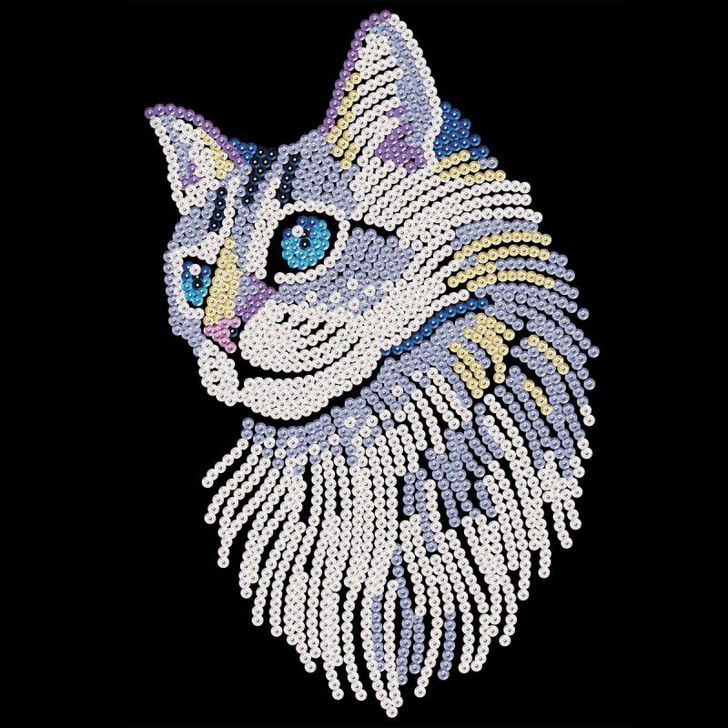 Sequin Art - Chat - tableau 25 x 34 cm - Photo n°2