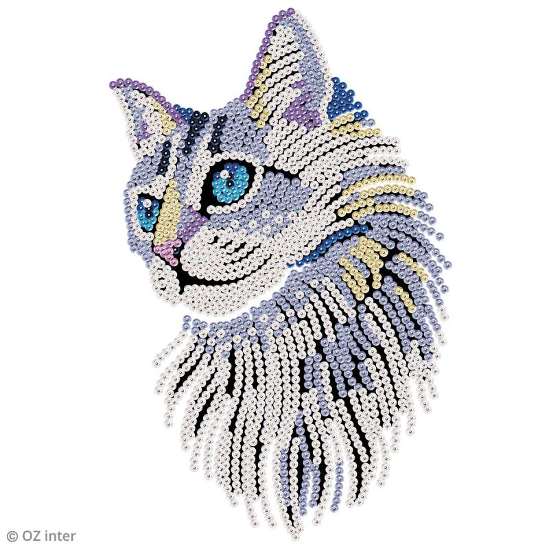Sequin Art - Chat - tableau 25 x 34 cm - Photo n°3