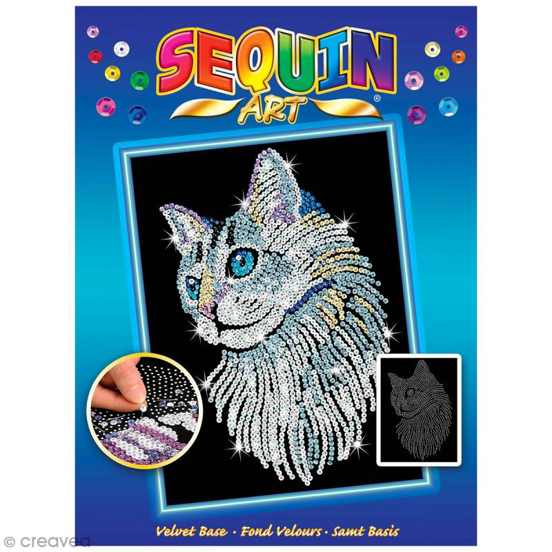 Sequin Art - Chat - tableau 25 x 34 cm - Photo n°1