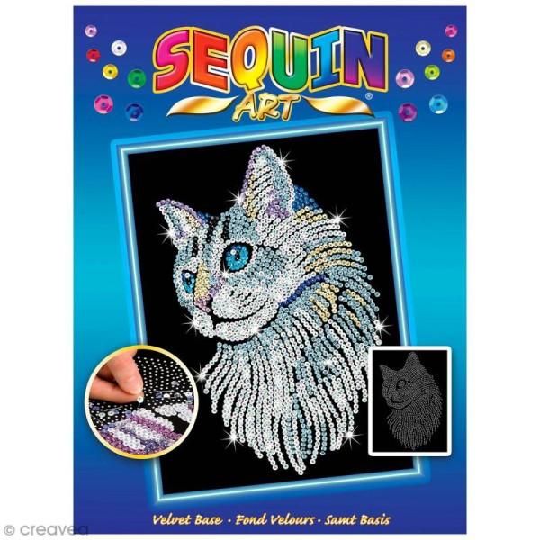 Sequin Art - Chat - tableau 25 x 34 cm - Photo n°1