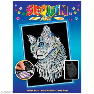 Sequin Art - Chat - tableau 25 x 34 cm