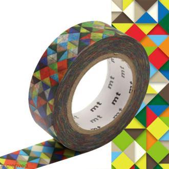 Masking tape à motif traditionnel japonais - Origami - 1,5 cm x 10 m