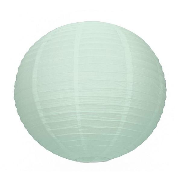 Grande Lanterne Japonaise Menthe clair, Lampion boule Papier, XL 50 cm, à suspendre - Photo n°1
