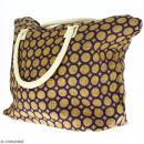 Sac shopping en jute naturelle - Cercle - Violet - 50 x 38 cm - Photo n°5