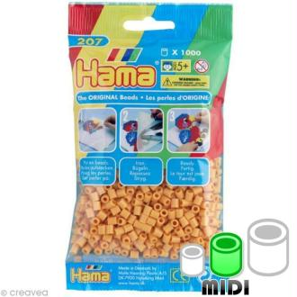 Perles Hama Midi diam. 5 mm - marron nounours x1000