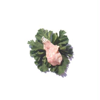 Opale Rose du Pérou : Pendentif pierre brute 43 MM de hauteur