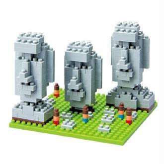 Nanoblock - Nbh-009 - Jeu De Construction - Moai Statues On Easter Island
