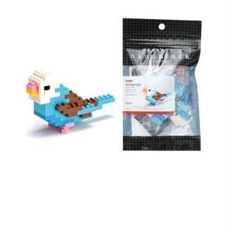Nanoblock - Nbc-016 - Jeu De Construction - Budgerigar Blue Opaline