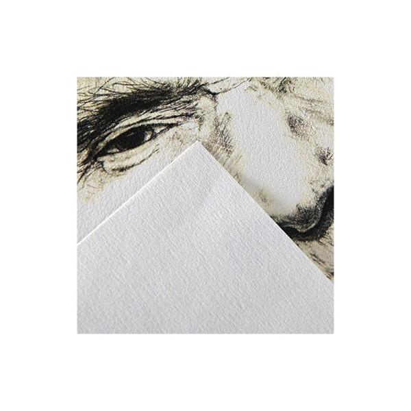 Canson 'C à grain' 400060607 Bloc Papier à dessin 30 feuilles 125g Grain Fin A3 Blanc Naturel - Photo n°1